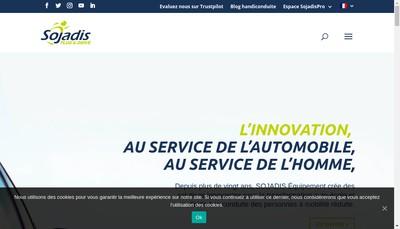 Site internet de Sojadis Equipement