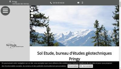 Site internet de Sol Etude