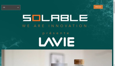 Site internet de Solable