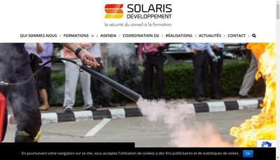Site internet de Solaris Developpement