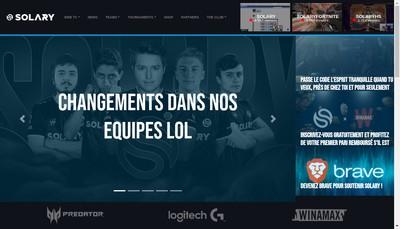 Site internet de Solary Tv Production