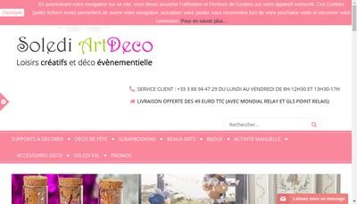 Site internet de Soledi Artdeco