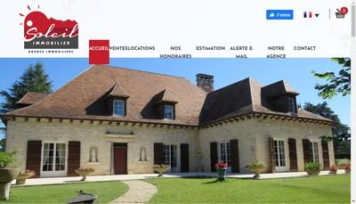 Site internet de Soleil Immobilier