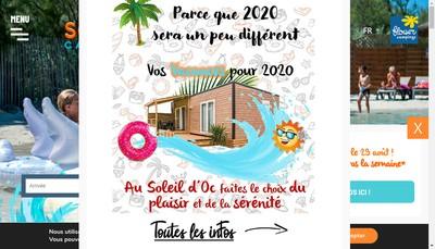 Site internet de Camping Soleil d'Oc