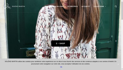 Site internet de Solene Martin