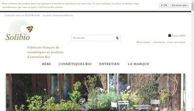 Site internet de SARL Solibio