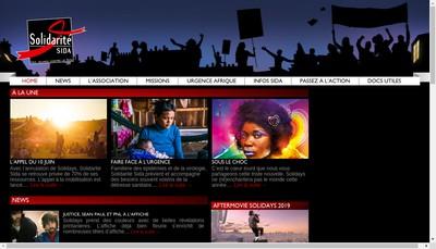 Site internet de Solidarite Sida