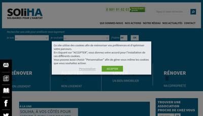 Site internet de Soliha Ais Centre Val de Loire