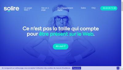 Site internet de Solire