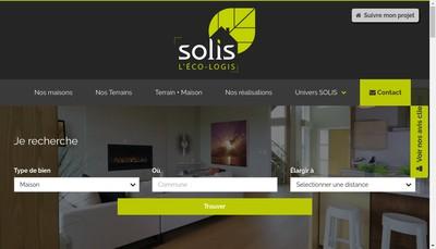 Site internet de Solis Construction