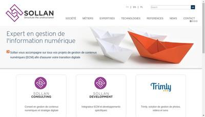Site internet de Sollan France