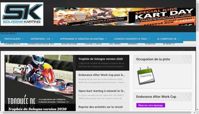 Site internet de Sologne Karting