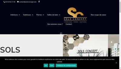 Site internet de Sols Concept