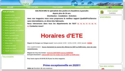 Site internet de Soltech Nrj