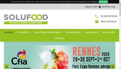 Site internet de Solufood