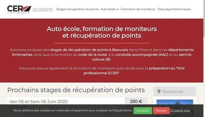 Site internet de Soluroute