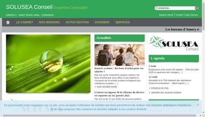 Site internet de Solusea Conseil