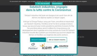 Site internet de Solutech Industries