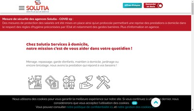 Site internet de Solutia Illkirch