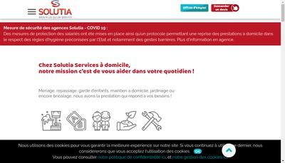 Site internet de Solutia Centre Alsace