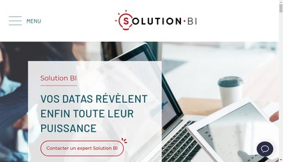 Site internet de Solution Bi