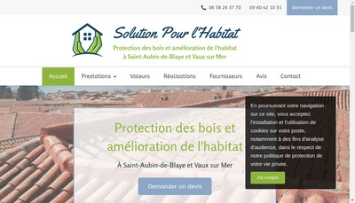 Site internet de Sph Solution pour l'Habitat