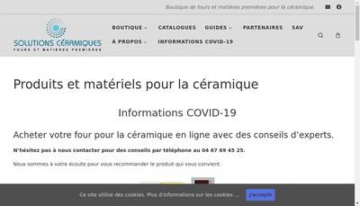 Site internet de Solutions Ceramiques