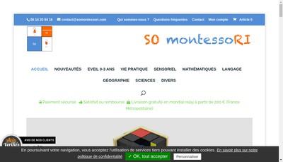 Site internet de So Montessori