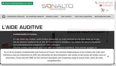 Site internet de Sonalto