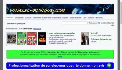 Site internet de Groupe Sonelec