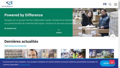 Site internet de Sonepar France Interservices
