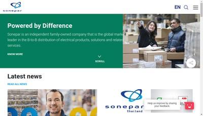 Site internet de Sonepar France