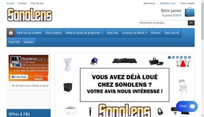 Site internet de Sono Lens