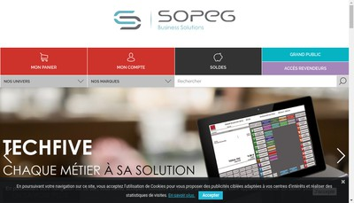 Site internet de Olympia Tech Five Olympia France Obs France Sopeg Olympia Business System France