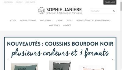 Site internet de SARL l'Atelier Sophie Janiere