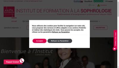 Site internet de Institut de Formation Sophrologie