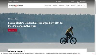 Site internet de Sopra Steria Group