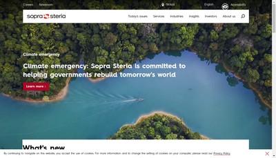 Site internet de Sopra Steria Services