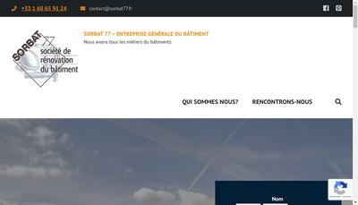 Site internet de Sorbat 77