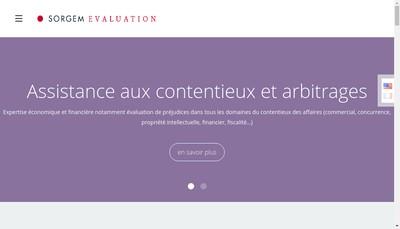 Site internet de Sorgem Evaluation