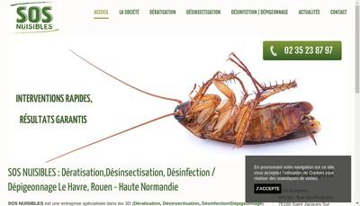 Site internet de SOS Nuisibles