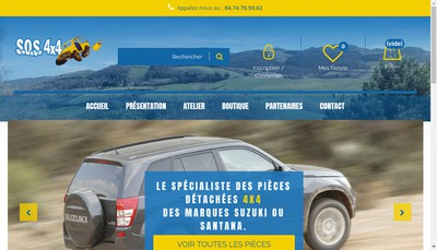 Site internet de SOS 4X4