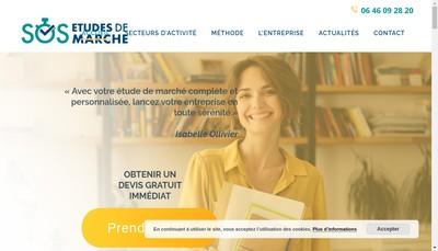 Site internet de Sos Etudes de Marche