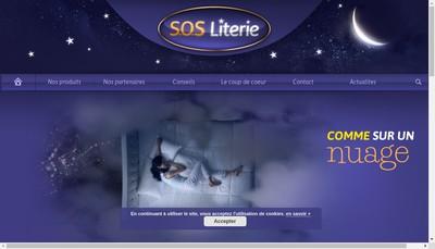 Site internet de SOS Literie