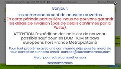 Site internet de Sosmembranes