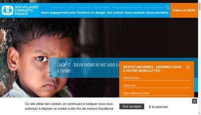 Site internet de Sos Villages d'Enfants