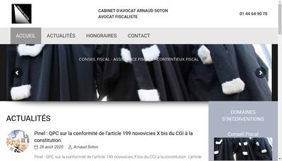 Site internet de Cabinet d'Avocat Arnaud Soton