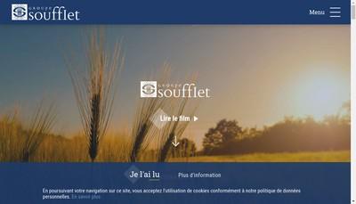 Site internet de Silos Soufflet