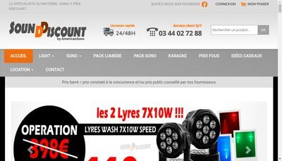 Site internet de La Boutique Sound Discount
