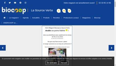 Site internet de La Source Verte